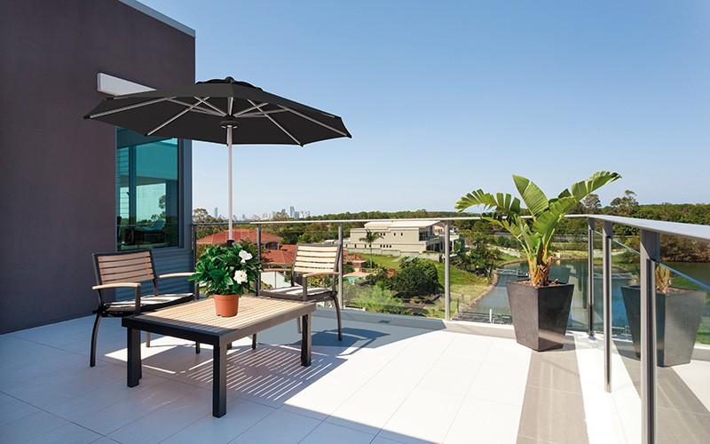 Parasoles De Jardin Solero Con Lona Resistente A La Decoloracion - Sombrillas-grandes-para-jardin